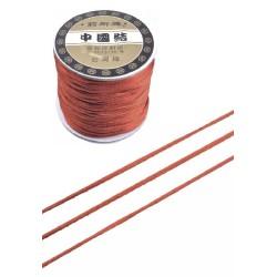 Satiininyöri punaruskea, leveys 1,5 mm (5 metriä)