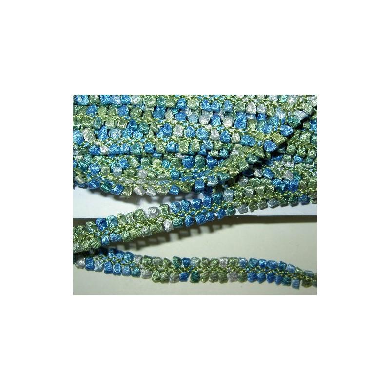 <b>Koristenauha, rokokoo sinivihreä, leveys 10 mm</b>