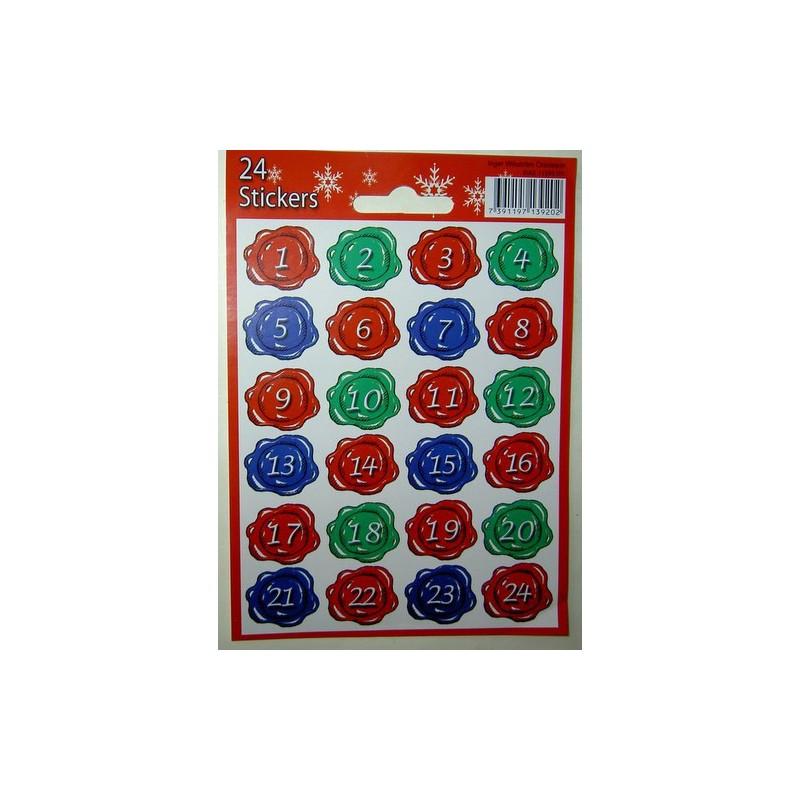 <b>Joulukalenterinumerot, sinetti</b>