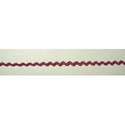 Siksaknauha, leveys 3 mm, vanha roosa (2 metriä)