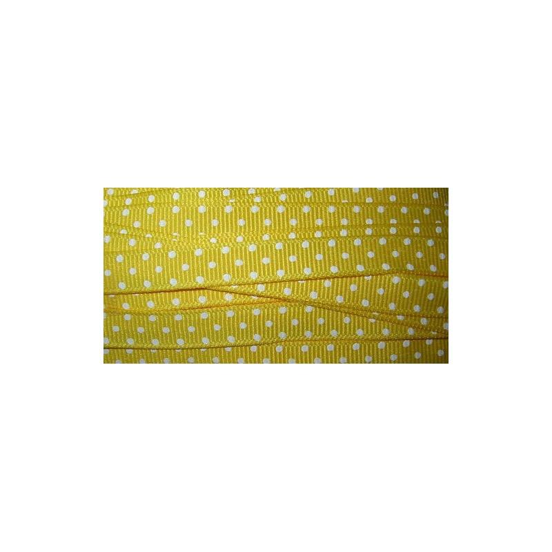<b>Nauha, polka dot keltainen, leveys 10 mm</b>
