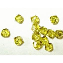 <b>Swarovski bicone 4 mm, lime (20 kpl) </b>