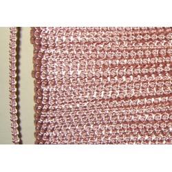 Knobbly-nauha, leveys 3 mm, vaaleanpunainen (2 metriä)