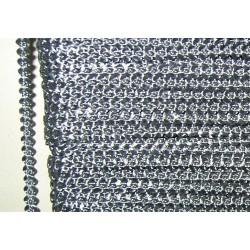 Knobbly-nauha, leveys 3 mm, harmaa (2 metriä)