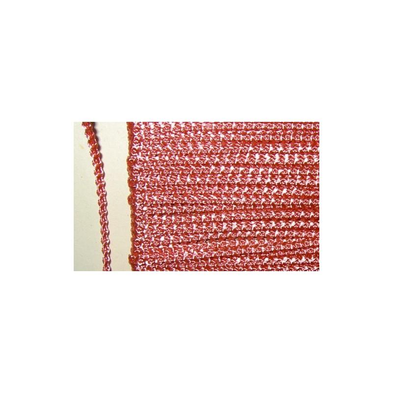 <b>Knobbly-nauha, leveys 3 mm, ruusunpunainen</b>