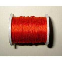 Silkkinauha, punainen, leveys 2 mm (3 metriä)