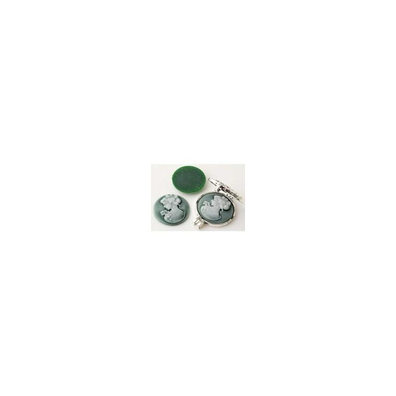 Cameo, pyöreä vihreä