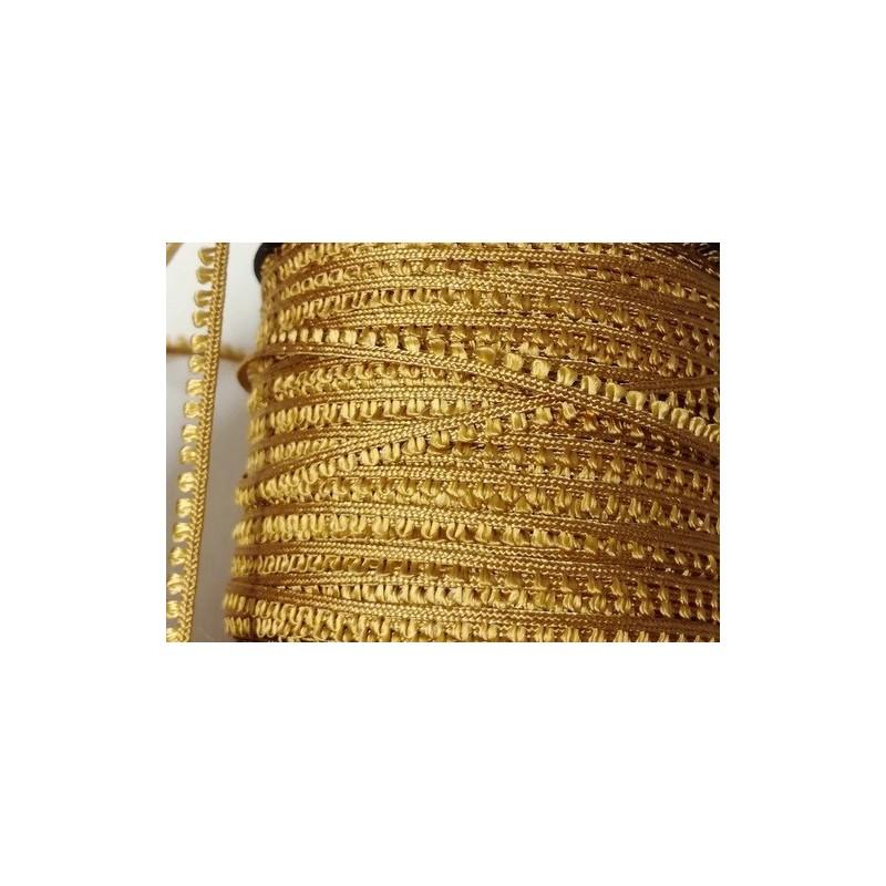 Picot-nauha, leveys 3 mm, tumma kulta (2 metriä)