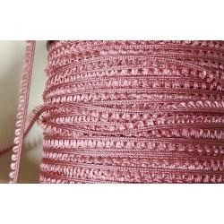 Picot-nauha, leveys 3 mm, vintage roosa (2 metriä)