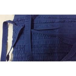Rypytetty helmanauha, tummansininen, leveys 12 mm