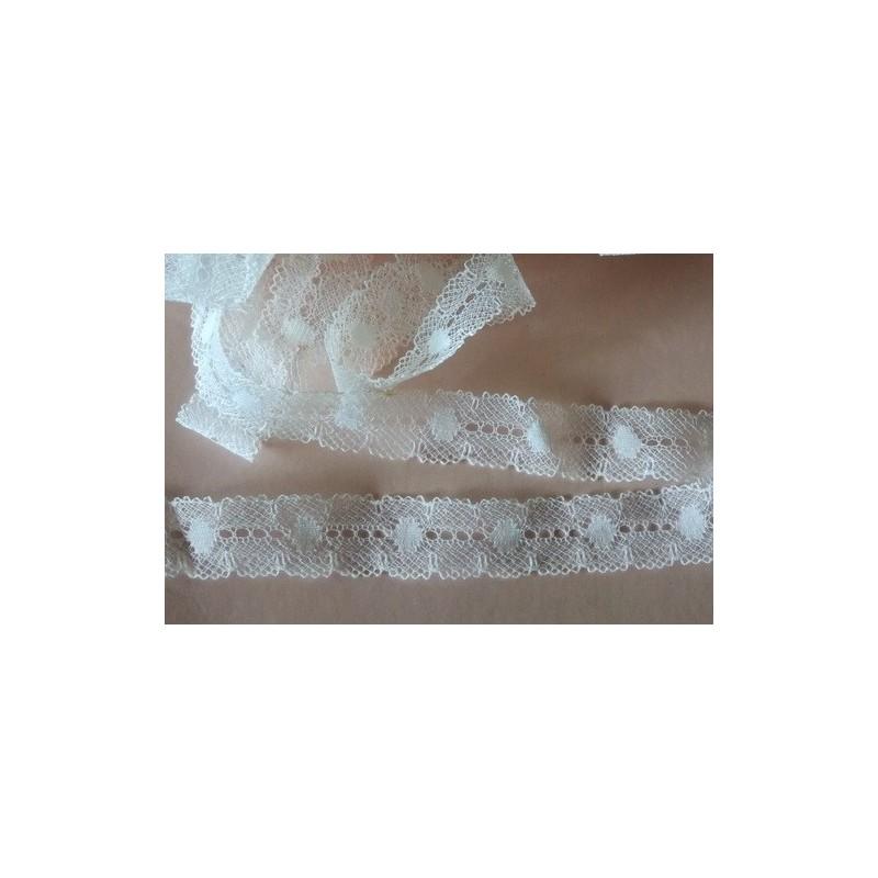 Pitsi, valkoinen seitti, leveys 17 mm